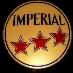 "15"" Imperial 3-Star Gas Pump Globe"