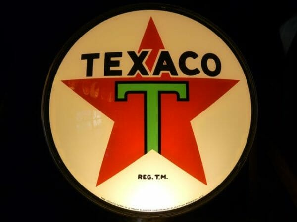 "15"" Texaco Star Gas Pump Globe"