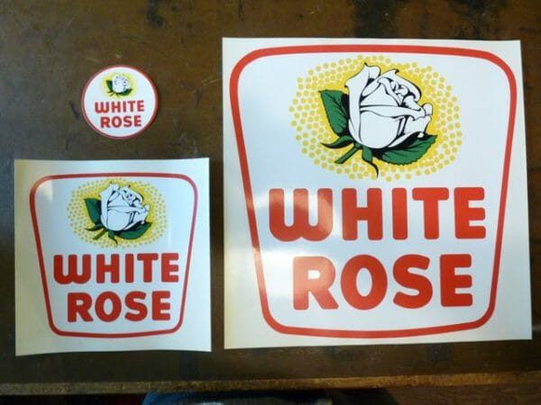 1953 White Rose Decal